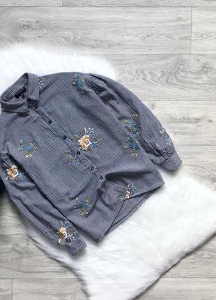 Рубашка с вышивкой и обьемными рукавами