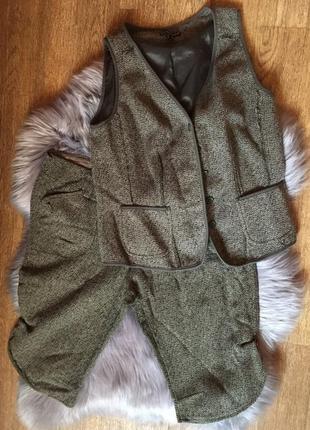 Теплый твидовый костюм