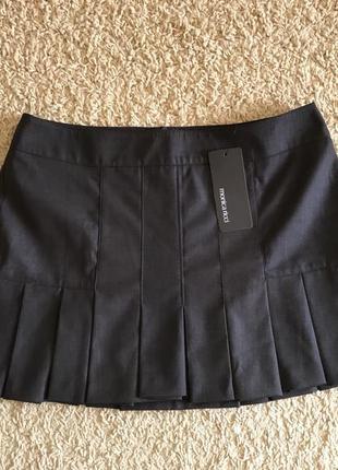 Шерстяна спідничка а-ля школярка monica ricci, спідниця, юбка, юбочка