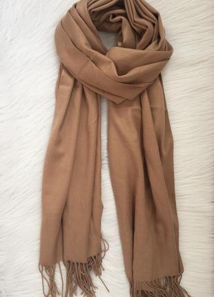 Коричневый шарф-палантин