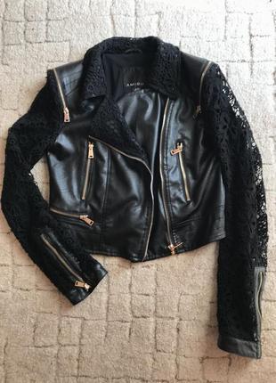 Куртка косуха с кружевом amisu