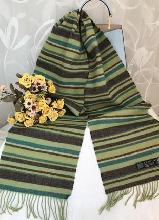 Брендовый 💚👑💚 шерстяной шарф из шерсти frangi, шотландия.