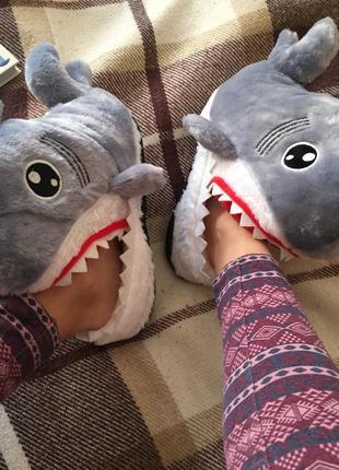 Тапочки домашние капці домашні акула