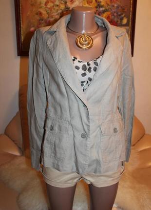 Идеальный серый льняной пиджак l casablanca