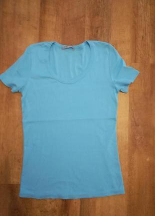 Хлопковая футболка бренда marks&spencer
