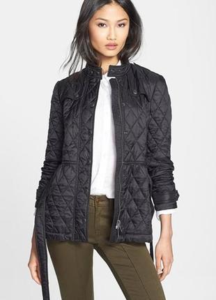 Черная стеганая курточка next