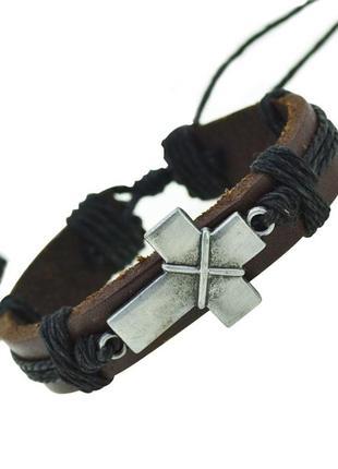 Крутой браслет с крестом