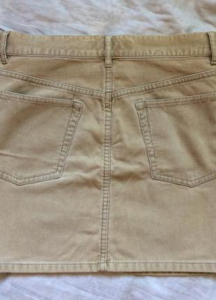 Вельветовая мини юбка