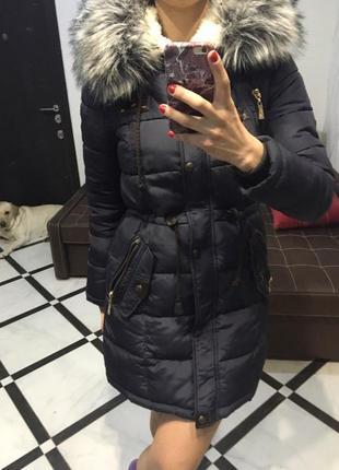 Пуховик пальто холлофайбер зимний