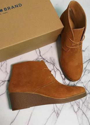 Lucky brand оригинал ботинки ботильоны на танкетке на шнуровке бренд из сша