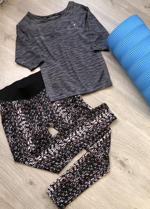 Костюм для фитнеса. сост.идеал. размер 46-48-50 футболка лосины