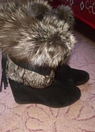 Зимові черевики натуральний замш