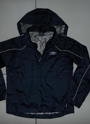 Куртка - дождевик - анорак - umbro 152 - синяя - сток