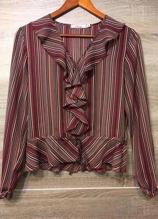 Блуза с воланом полоска s.oliver № 17