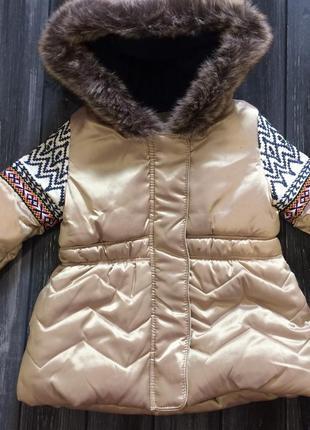 Деми куртка 74 р., холодная осень