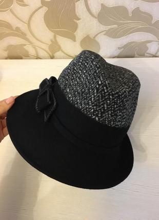 Шляпка шлейф с бантом1 фото