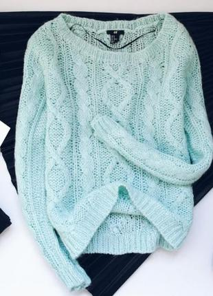 Мятный свитер h&m