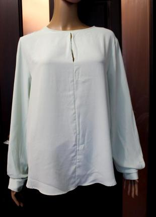 Новая нежная блуза цвета мяты h&m