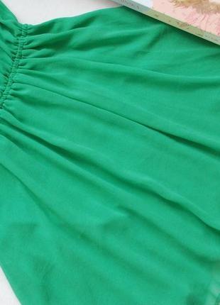 7ba51e4dcfe ... Шифоновое зеленое платье солнцеклеш от h m divided4 фото ...