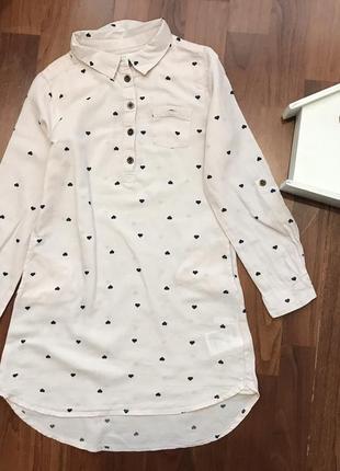Удлинённая рубашка 7-8 лет