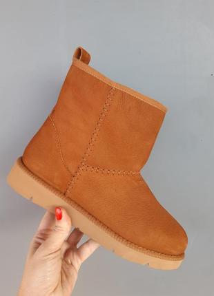 Кожанные зимние угги, ботинки, полуботинки