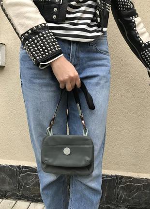 Маленькая сумочка, косметичка,кошелечек на длинной ручке,кожа +текстиль,оригинал, radley