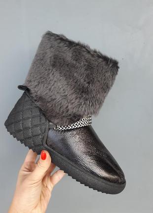 Кожанные зимние угги, сапоги, полусапоги, ботинки