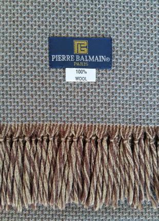 """Мужской, классический, брендовый шарф """"pierre balmain"""", 100% шерсть.2 фото"""