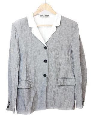 Jil sander women's linen and cotton-blend blazer