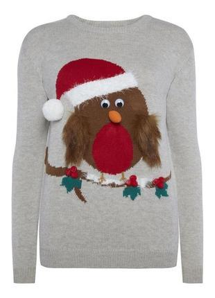 Смешной новогодний ддемпер свитер