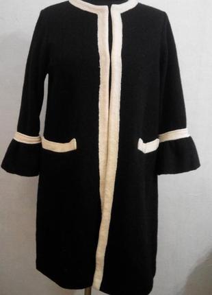 Пальто из шерсти в стиле  шанель