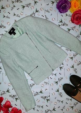 Фирменная куртка косуха h&m мятного цвета, размер xs