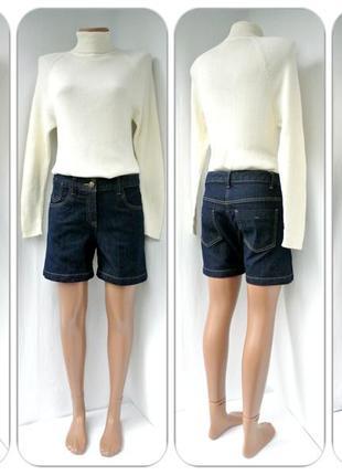 """Стильные классические джинсовые шорты """"south"""" темно-синего цвета. размер uk10(m)."""