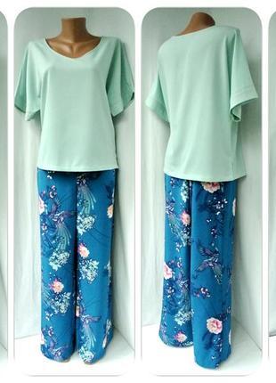 Стильная брендовая блузка marks&spencer мятного цвета. размер uk12(m/l).
