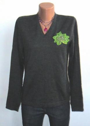 Модный полушерстяной свитер от george размер: 44-s, m
