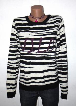 Стильный полосатый свитер от janina размер: 54-xl, xxl