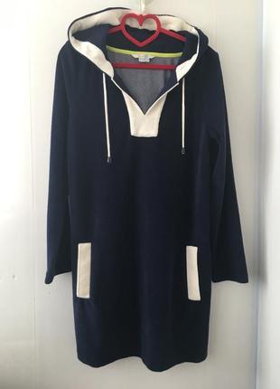 Плюшевое спортивное платье с капюшоном, оригинал boden