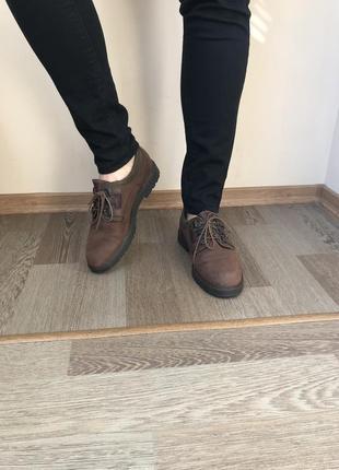 Кожаные туфли с мембраной  sympa tex 39р 25 см