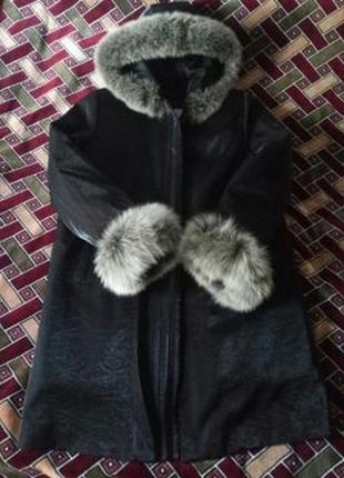 Пальто женское, зима. мех натуральный