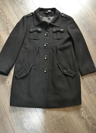 Пальто размер 36-38,  шерсть 60%