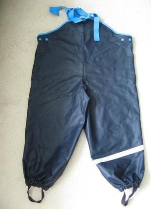 Непромокаемые дождевые штаны для луж полукомбинезон lindex швеция 116р