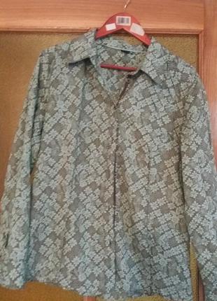 Сорочка  в елегантний принт. шикарная рубашка. пог 61+