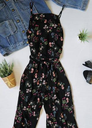 Цветочный шифоновый комбез atmosphere atm комбинезон комбенизон ромпер цветы