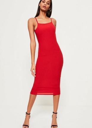Красивое платье по фигуре в рубчик миди облегающее сукня плаття міді
