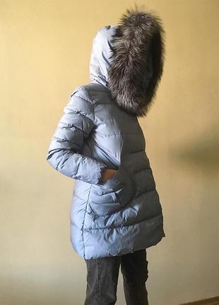 Куртка с воротником из чернобурки, m/s