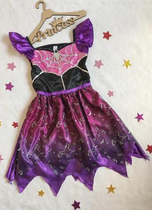 """Карнавальное платье """"ведьмочка"""" на хеллоуин (halloween), 7-8 лет,122-128 см хэллоуин"""