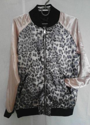 Стильный двухсторонний бомбер,куртка,ветровка,карманы,на молнии,полиэстерfb sister