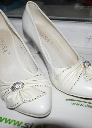 Свадебные туфли 40 рр (кожа)