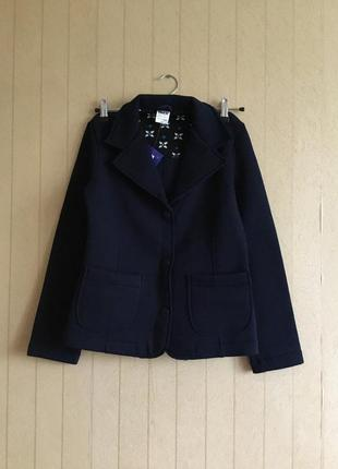 Трикотажный пиджак для девочек гимназистка на рост 158 на флисе