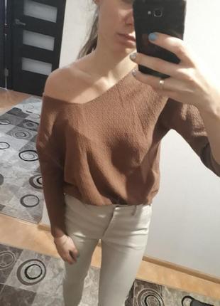 Стильная фактурная мягкая блуза кофта джемпер свитер